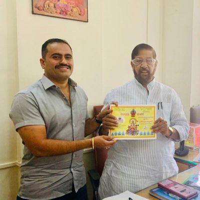 Member of Parliament and Ex Minister Shri. Girish Bapat